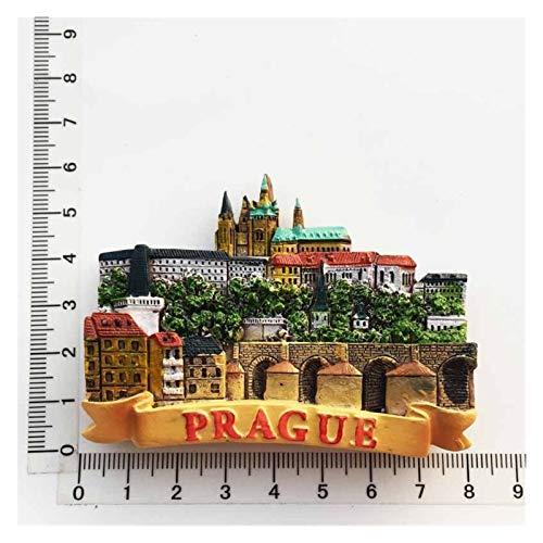 JSJJAWS Imanes Nevera Resina 3D Frigorífico Imán Souvenir Czech Praga Paisaje Cultural Colección turística Pintado a Mano Imán Imán Pegatina Etiqueta engomada Regalo Regalo (Color : 5)