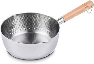 MyLifeUNIT Stainless Steel Yukihira Pan, Traditional Japanese Yukihira Saucepan, Large 7.9 Inch (20 cm) Silver KC17L295