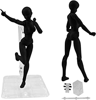 Kids Drawing Sodoop Drawing Figures for Artists Action Figure Model Human Mannequin Man and Woman Kits Accessories Kit for Sketching Cartoon Figures Action,13-15cm Painting Artist