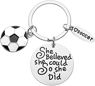 Sportybella Soccer Keychain, Soccer Gifts, Soccer She Believed She Could So She Did Keychain, Soccer Zipper Pull, Proud Soccer Player or Soccer Team Gifts