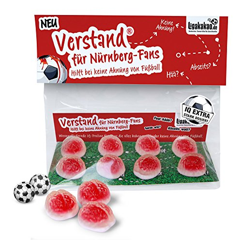 FCN Geschenk Set ist jetzt VERSTAND für Nürnberg-Fans | Fruchtgummi-Pralinen, hochdosiert | Für Schalke, Bayern & Fußball-Fans, denen der Verstand von FCN-Fans am Herzen liegt