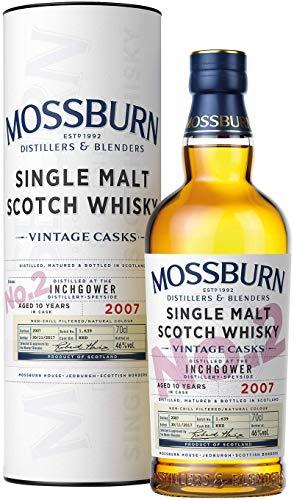 Inchgower 10 Jahre | Vintage Casks Abfüllung von Mossburn | Single Malt Scotch Whisky | 0,7l. Flasche in Tube