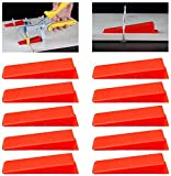 GLOBALDREAM Cuñas de Azulejos, Cuñas Sistema De Nivelación De Baldosas De Plástico Reutilizable para La Instalación, 100 piezas, Rojo
