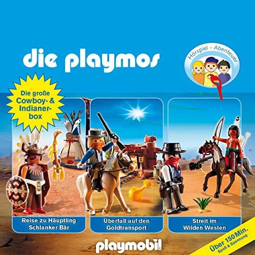 Die große Cowboy- und Indianer-Box. Das Original Playmobil Hörspiel Titelbild