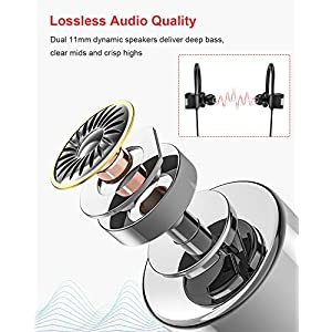 RCA Bluetooth headphones, IPX7 Waterproof Wireless Bluetooth 5.0 Earbuds with Mic, HiFi Stereo In-Ear Sports Earphones for Running Workout Gym, Noise Cancelling Headphones 12 Hours Playtime