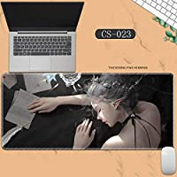 素敵なマウスパッド特大アイスプリンセスゴーストナイフ風チャイムプリンセスアニメーション肥厚ロック男性と女性のキーボードパッドノートブックオフィスコンピュータのデスクマット、Size :400 * 900 * 3ミリメートル-CS-023