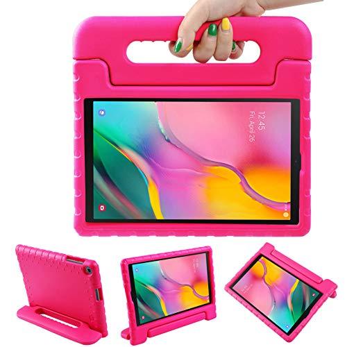 LEADSTAR Funda para Samsung Galaxy Tab A 10.1 2019, Ligero y Super Protective Antichoque EVA Estuche Protector Diseñar Especialmente Manija Caso con Soporte para los Niños, SM-T510 / T515 (Rosa)