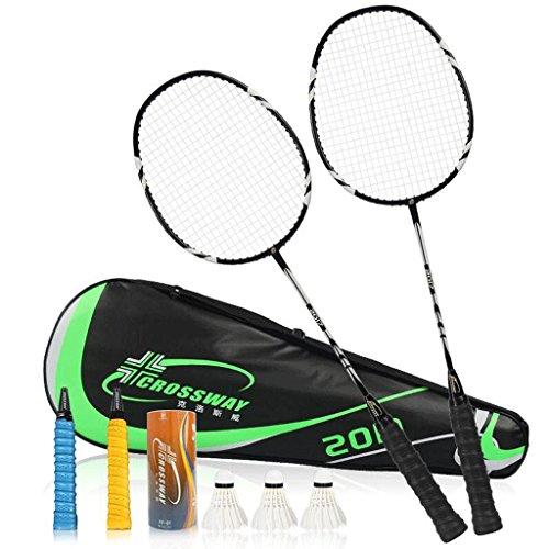 HLD 2 Loaded mit Carbon Badminton Schläger Double Shot Zwei Loaded Badminton Schläger (Color : C)