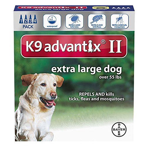 K9 Advantix II for dogs 55 pounds and over - 4 month supply by K-9 Advantix