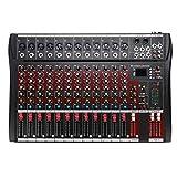 Mesas de Mezclas, Mezclador Audio Consola de Mezcla de Audio Bluetooth DJ con USB MP3 Jack 12...