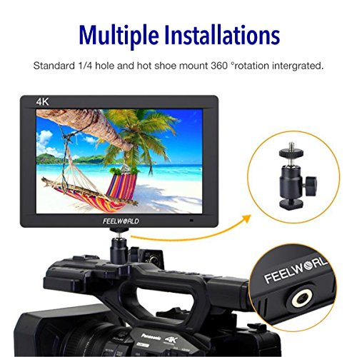 Feelworld FW703 7 inch 3G SDI 4K HDMI Camera Field Monitor, Full HD 1920x1200 IPS LCD Field Monitor for DSLR