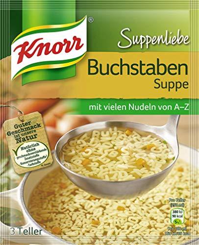 Knorr Suppenliebe Fertiggericht Buchstaben Suppe, 3 Portionen, 82g