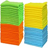 50 Pack - Simple Houseware Microfiber Cleaning Cloth (12' x 12')