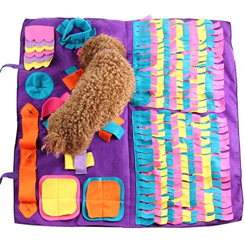 Bloomma Dog Feeding Mat, Dog Snuffle Mat Small/Large Pad de Entrenamiento para Perros Nose Pet Manta de Trabajo Actividad Antideslizante para Mascotas