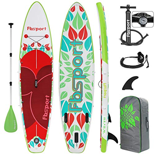 FBSPORT Sup Hinchable, 15 CM de Espesor Tabla Paddle Surf Hinchable, Tabla de Sup Paddleboard, Tabla Stand Up Paddle Board | Medidas: 320×80×15cm