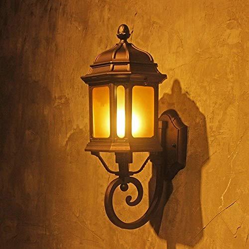 OUPPENG moderna de estilo europeo Lámpara de pared de fondo americana Living Wall pared del sitio del dormitorio de la lámpara lámpara de cabecera del pasillo Hierro retro Luces al aire libre decoraci