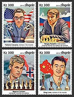 Angola - 2019 World Chess Championship - Set of 4 Stamps - ANG190103a