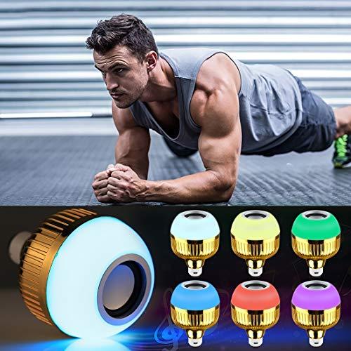 LED Light 12W de carga USB Smart Wireless Bluetooth altavoz de la música Juego de bulbo regulable LED con control remoto y gancho - Smart Led Light