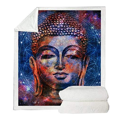 TBATM Flanell Decke, 3D Maitreya Lunch Break Sofa Decke Sherpa Soft Cosy Warm TV Decke für Couch Chair Living Bed Room,K,200X150cm