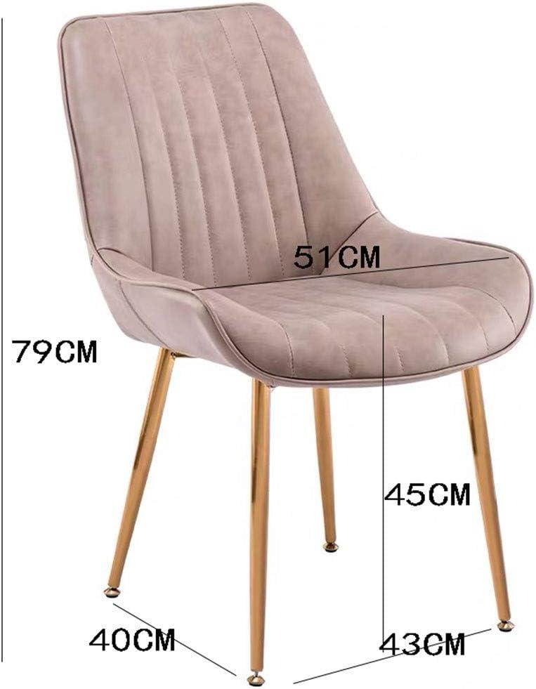 HEJINXL Chaises Salle Manger Chaise Cuisine Dossier Cuir Pieds Plaqués Or Brossé Rotation 360 Nordic Modern Café Simple Chaise Bureau (Color : C) B