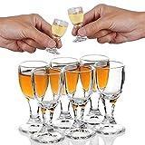 6PCS 12ml,0.4 oz Bicchieri da Shot senza piombo Bicchierini per bicchieri in vetro per alimenti sicuri per Liquidi Shot Glass Chinese Baijiu Glass sake spirito alcol cinese giapponese-piccolo