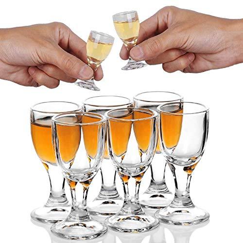 6PACK 12ml, 0.4oz Shot Trinkgläser Schnapsglas Barware Clear Schnapsgläser - Sake Stamper Shotglas Gläser Schnaps Chinese Baijiu Glass Chinesisch Weinglas Tasse Shot Glasses