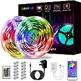 Strisce LED Luci, 2m / TV retroilluminazione Light Kit 6,56 Piedi USB Strisce for 40-60in TV SYNC con Music e Telecomando 5050 LED Bias Illuminazione for HDTV (2M) (Taglia : 10m)