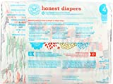 The Honest Company Honest Disposable Baby Diapers, Multi Colored Giraffes, Size 4, 29 Count