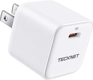 TECKNET PD充電器 20W USB-C 急速充電器 超小型アダプタ Type-Cスマフォ充電器 Power Delivery3.0対応 iPhone 12/11/11Pro/11 Pro Max/iPhone XS XR X8, iPa...