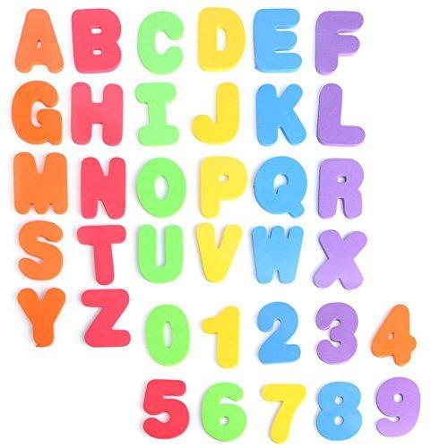 dairyshop Baby Kinder Schwamm Schaumstoff-Buchstaben/Ziffer Floating Badewanne Schwimmen Play Toy 36pcs Neu