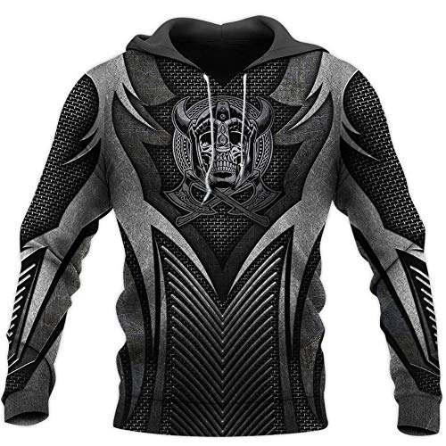BBYaki Viking Armour Hoodies for Men Women 3D All Over Printed Fashion Hooded Sweatshirt Casual Jacket Pullover DW0031,Hoodie,M