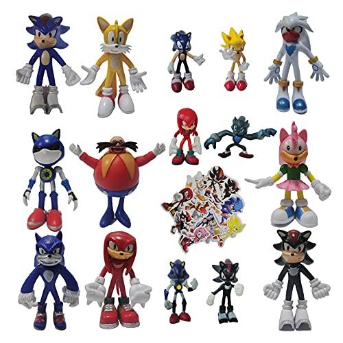 Traje de Sonic Un conjunto de nueve figuras grandes + un juego de seis figuras pequeñas Sonic Sonic Supersónico de segunda generación
