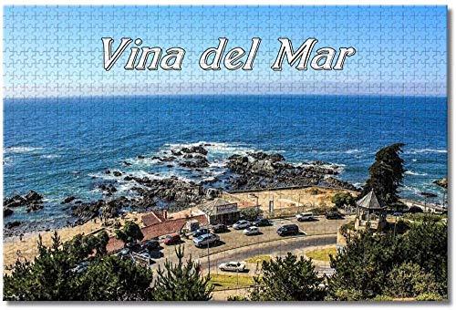 Vina del Mar Valparaiso Chile Rompecabezas para Adultos Niños 1000 Piezas Juego de Rompecabezas de Madera para Regalos Decoración del hogar Recuerdos Especiales de Viaje