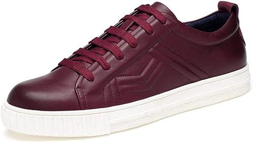 Hhor Chaussures de Sport pour Hommes à Lacets Bordeaux à Lacets Bordeaux pour Garçons, Royaume-Uni 9 (Couleuré   -, Taille   -)