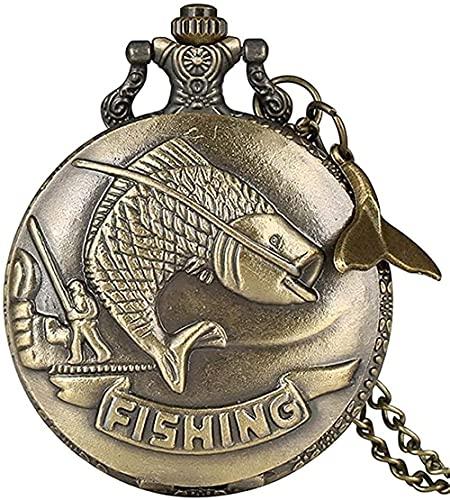 ZGYFJCH Co.,ltd Collar Stalin, Reloj de Bolsillo de Cuarzo Negro Vintage, Collar con Colgante de Encanto para Hombres y Mujeres, Reloj de Tiempo, Regalos, Regalo
