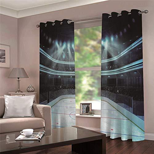 cortinas salon opacas moderno