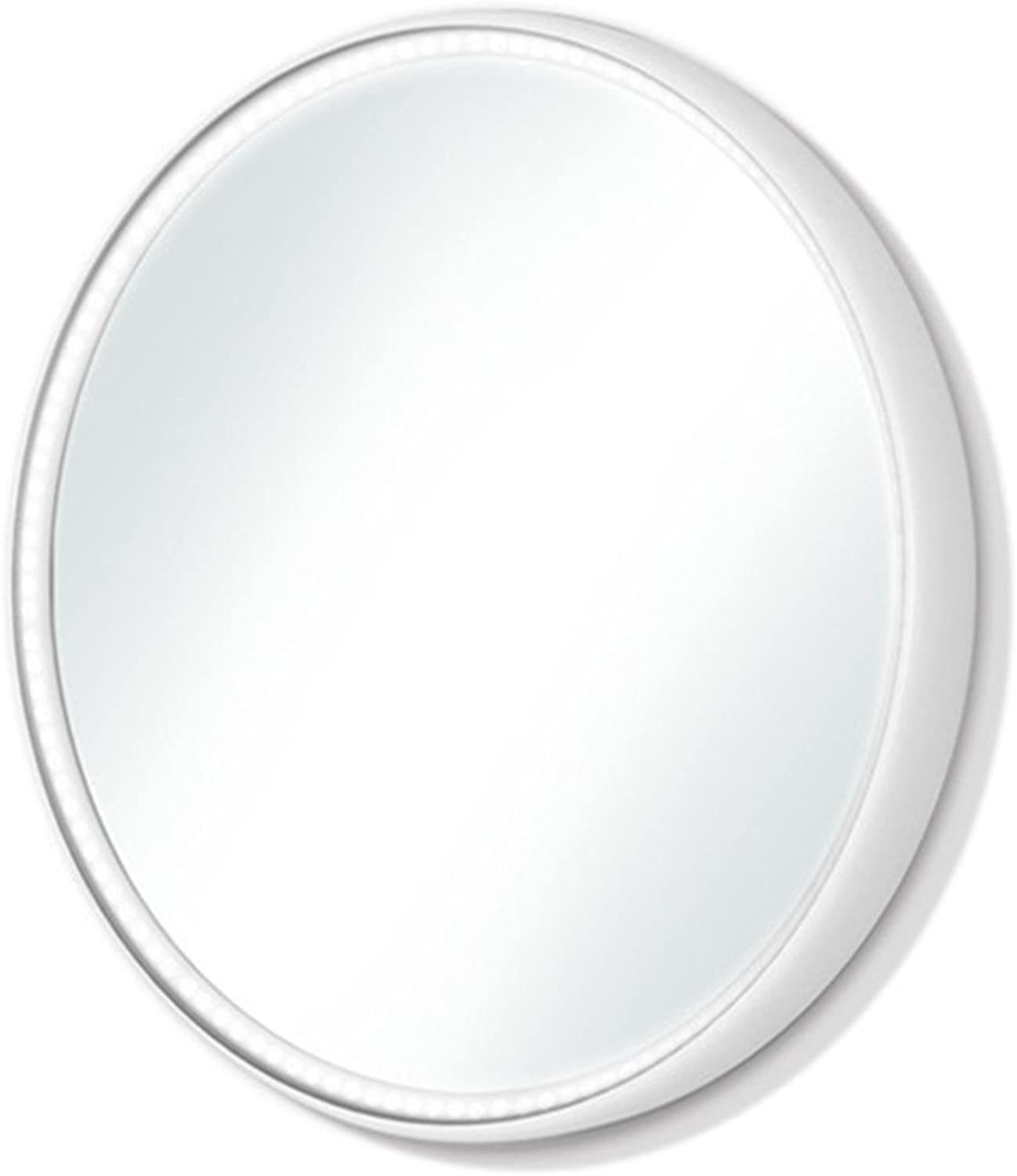 LED Wall Mirror, 16.7 inch Diameter Makeup Mirror,KELEEN Vanity Lighted Mirror for Bedroom with 2 Dimmer Modes by Touch Sensor(16.7 x16.7 x1.6 inches)