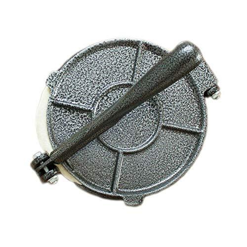 KLOP256 Tortilla Maker 20,32 cm de prensa para hornear herramienta de pastelería de aluminio plegable para restaurante hogar, cocina, comedor, bricolaje, México y limpiar con mango molde