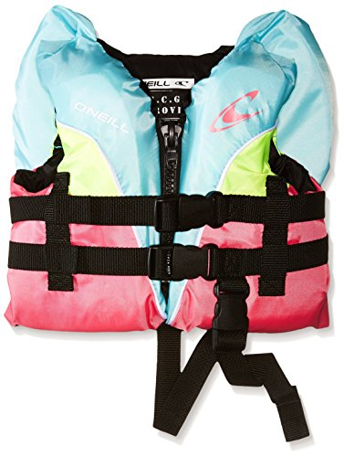 O'Neill Wetsuits Infant Superlite USCG Life Vest, Turquoise/Berry/Lime:White, 1sz