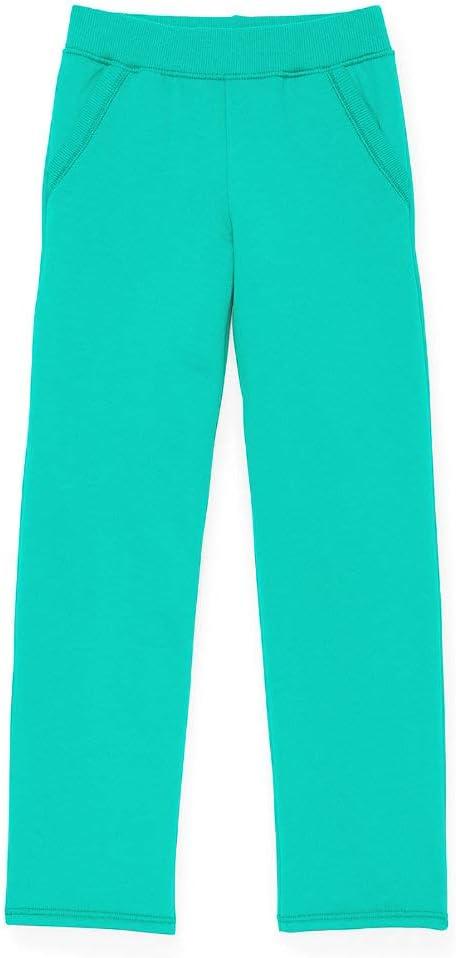 Girls` Fleece Open Leg Pants Sweatpants Large, Open Leg