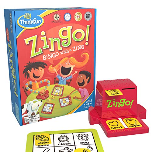 ThinkFun Zingo Bingo Award Winning Preschool Game for PreReaders and Early Readers Age 4 and Up  One of the Most Popular Board Games for Boys and Girls and their Parents Amazon Exclusive Version