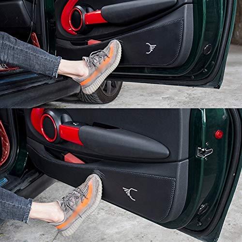 Für BMW Für Mini Für Cooper S R56 R60 R61 F54 F55 F56 F60 Countryman ClubmanCar Innentürverkleidung Leder Anti-Kick Film Pad Aufkleber (Größe : F60 4pcs)