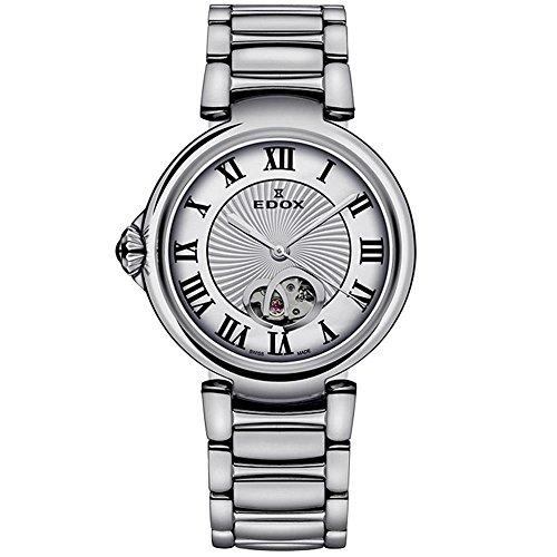 Edox 85025 3M ARN LaPassion Reloj Suizo automático de Plata para Mujer