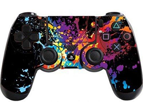 DOTBUY PS4 Pelli Adesivi Giochi Joystick Sony Playstation 4 Controller Dualshock Vinile Decalcomanie x 1 (Paint Splats)