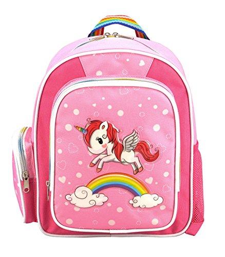 STEFANO Kinder Reisegepäck Einhorn Unicorn Set Pink mit Regenbogen für Mädchen (Rucksack)