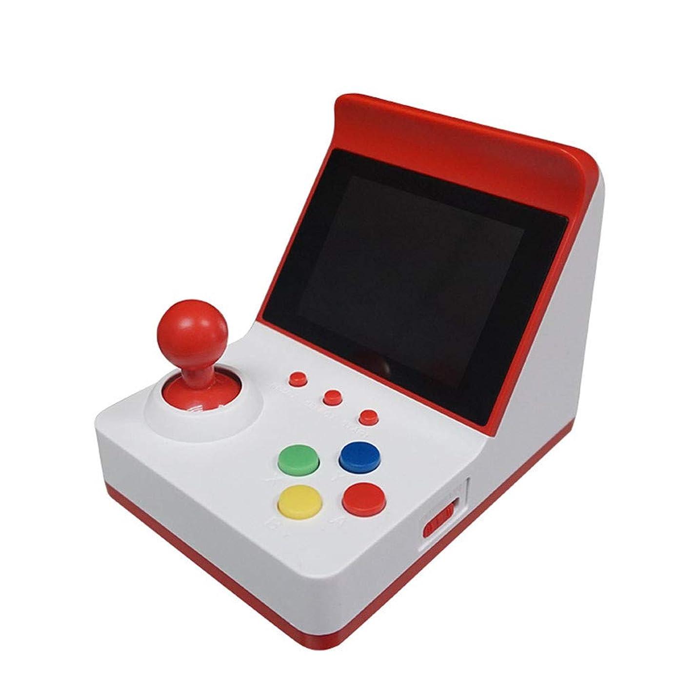 軽食短くする水平慶氏会社 A6 ミニ レトロ ゲームアーケード デュアルハンドル アーケードゲーム 3.0インチ コンソール クラシックハンドヘルド 2つのコントローラーを備えたビデオゲーム (レッド)