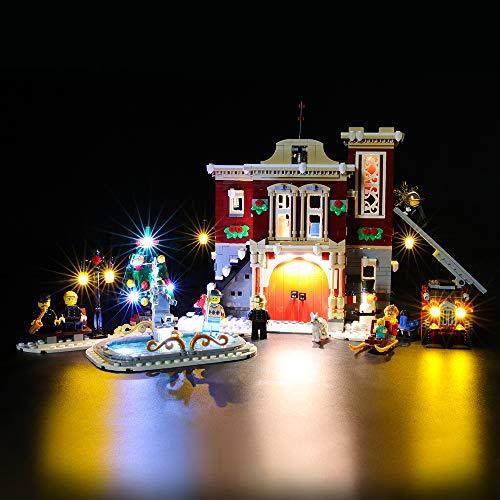 BRIKSMAX Led Beleuchtungsset für Lego Creator Winterliche Feuerwache,Kompatibel Mit Lego 10263 Bausteinen Modell - Ohne Lego Set