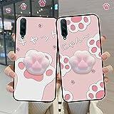 Aplicar a la funda de teléfono de juguete suave para Huawei honor 8 pro 9 10 lite dedo pellizcar lindo gato silicona cubierta para Huawei honor 20 pro 9i 10i 20i