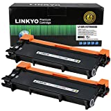 LINKYO Compatible Toner Cartridge Replacement for Brother TN660 TN630 TN-660 (2-Pack, High Yield, Design V3)