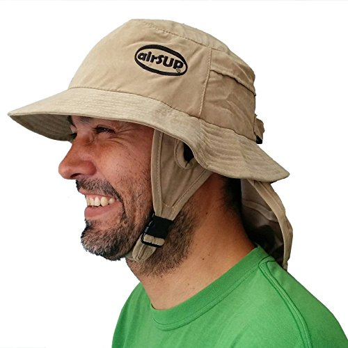 airSUP Bucket Hat for Stand Up Paddle Surf & Sun Protection Wide Brim Fast Drying Polyester (Sandy Khaki)